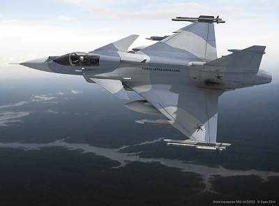 Brazil joins Sweden in becoming the launch customer for the next-generation Gripen. Photo by Saab.