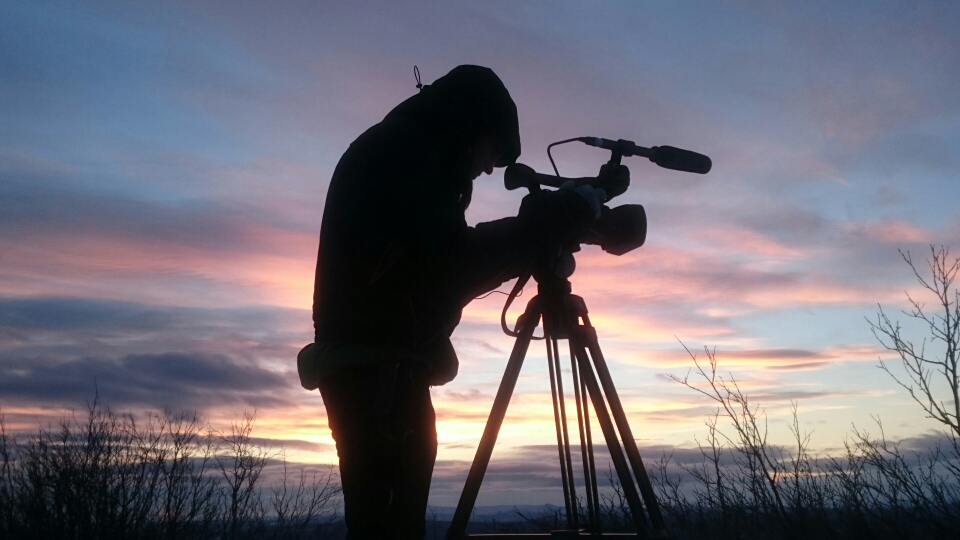 Shooting mountains and the Sápmi nature at Sörberget, right off Nautijaur. Photo by Pettan Johansson.