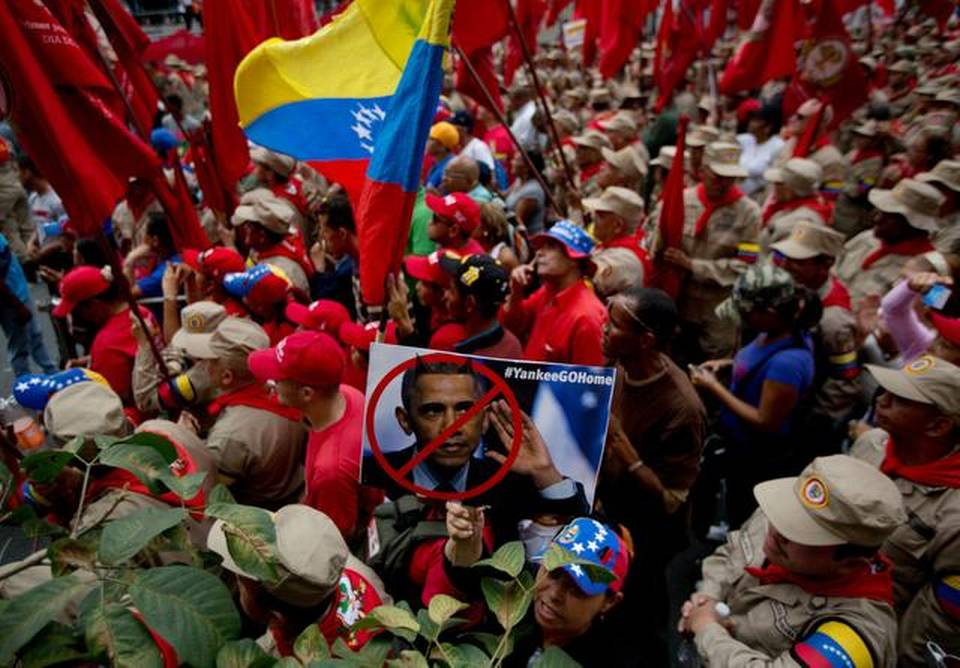 "Maduro supporters celebrating the ""anti-imperialist"" law. Photo by AP"